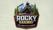 Rocky Railway Event with Green Background